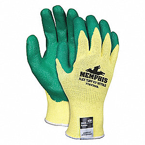 Cut Resistant Gloves,2,S,Yellow/Green,PR