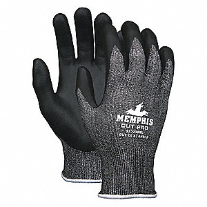 GLOVE,SYNTHETIC,SALT AND PEPPER/BLACK,L