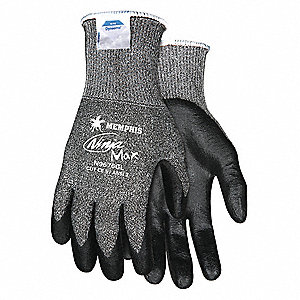 GLOVE,DYNEEMA,SALT AND PEPPER/BLACK,L