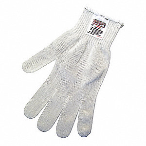 Cut Resistant Gloves,A6,XL,White