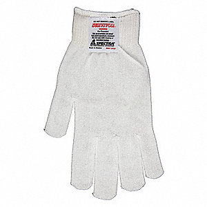 Uncoated Cut Resistant Gloves, ANSI/ISEA Cut Level A3 Lining, White, L, EA 1