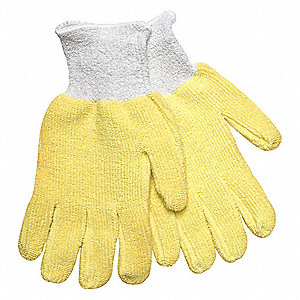 Cut Resistant Gloves,3,L,Yellow/Gry,PK12
