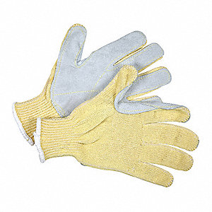 Uncoated Cut Resistant Gloves, ANSI/ISEA Cut Level 3 Lining, Yellow, L, PK 12