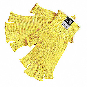 Uncoated Cut Resistant Gloves, ANSI/ISEA Cut Level A3 Lining, Yellow, L, PK 12