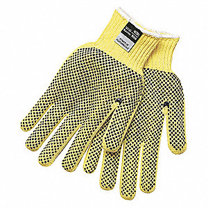 Cut Resistant Gloves,A3,M,Ylw/Black,PK12