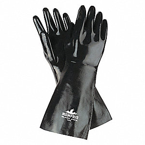 GLOVE,WHITE /BLACK,L 18IN,NEOPRENE,LARGE