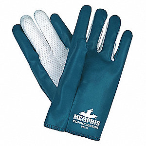 GLOVE,WHITE/BLUE,SLIP-ON,L