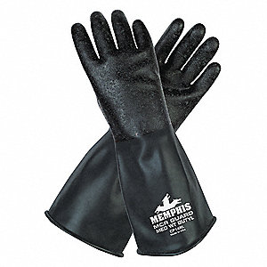Chemical Gloves,S,14 in. L,Butyl,PR