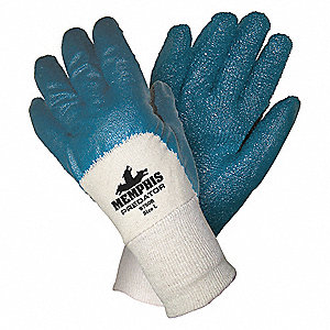 "Coated Gloves,3/4 Dip,L,11"",PR"