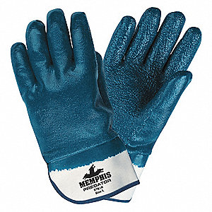 Chemical Gloves,XL,11 in. L,Rough,PK12