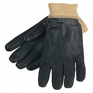 GLOVE,BLACK,L 10IN,PVC,LARGE