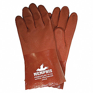 GLOVE,RED,L 12IN,PVC,LARGE