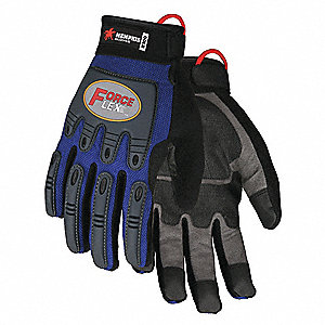 Coated Gloves, Blue/Black/Gray, 2XL, PR 1