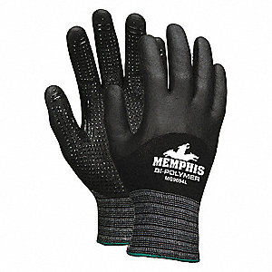 GLOVE,BLACK ,KNIT WRIST,XL