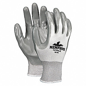 "Coated Gloves,3/4 Dip,L,10"",PR"