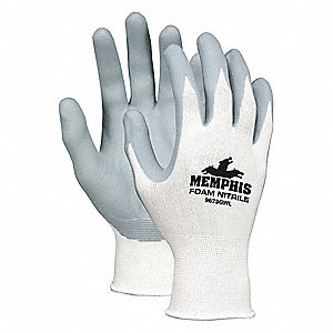 13 Gauge Foam Nitrile Coated Gloves, Size 2XL, Gray/White
