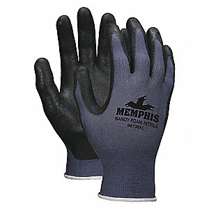13 Gauge Sandy Nitrile Coated Gloves, Glove Size: L, Blue/Black/Gray