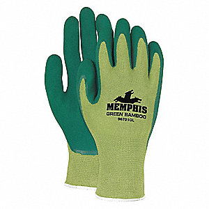 13 Gauge Foam Natural Rubber Latex Coated Gloves, Glove Size: S, Green