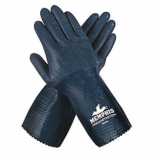 13 Gauge Rough Nitrile Coated Gloves, Glove Size: S, Blue