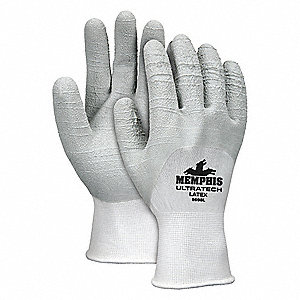 GLOVE,WHITE/GRAY,SLIP-ON,XL