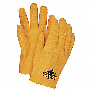 Rough Coated Gloves, Glove Size: M, Yellow