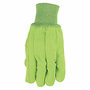 "Knit Gloves,10"" L,High Vis Green,PK12"