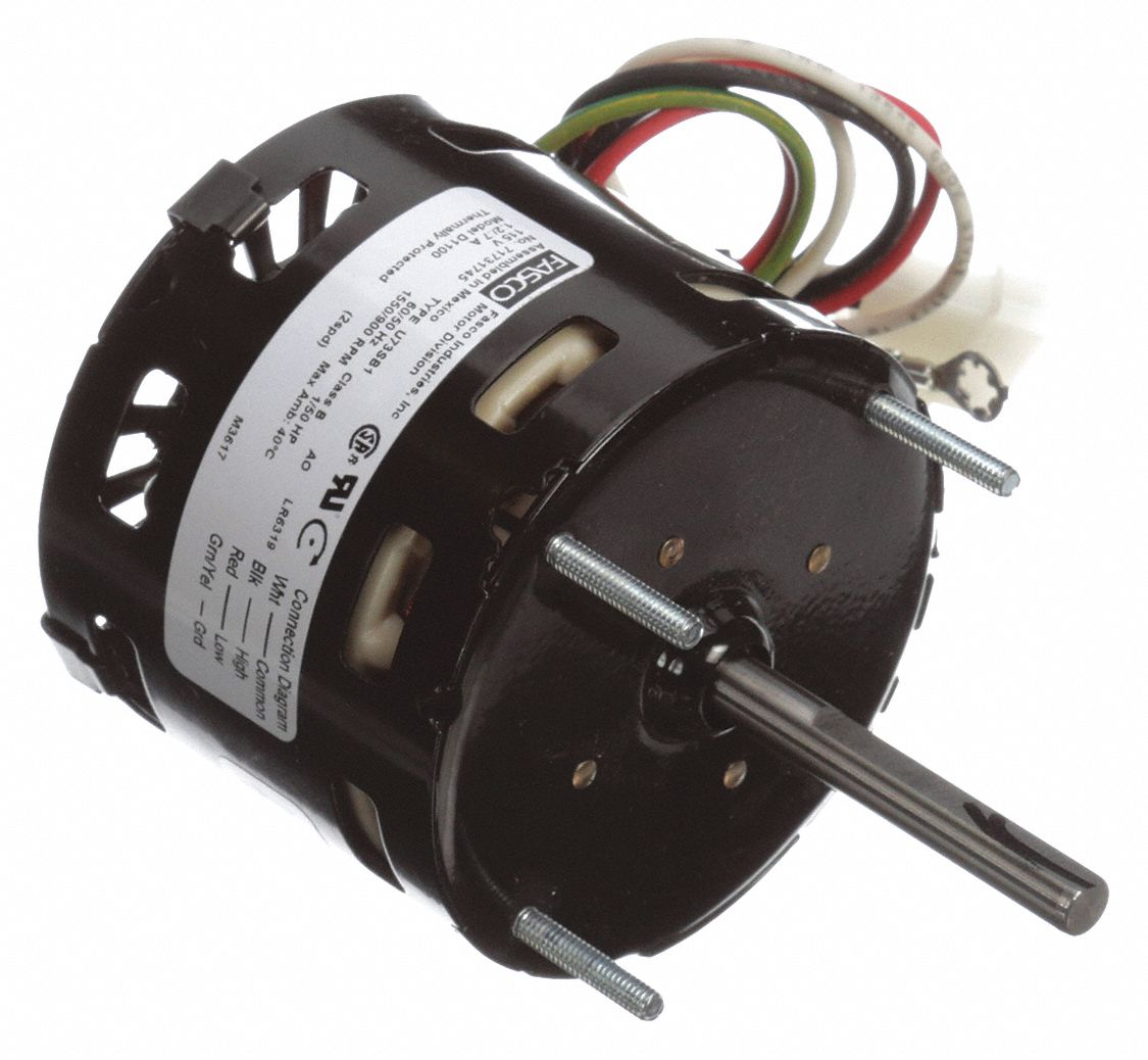 Condenser Fan Motor,  1/50 HP,  OEM Replacement Brand Loren Cook,  Replacement For 7173-1580