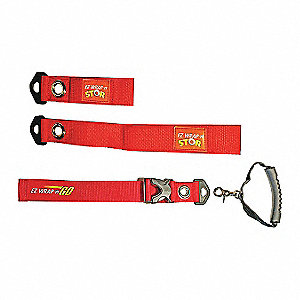 Strap with Handle,Red, Nylon,1-1/2 in. W