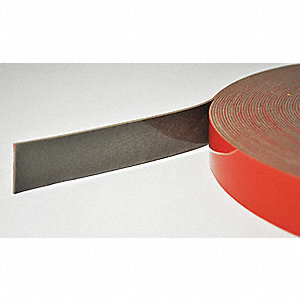 "Foam Tape, Acrylic Tape Adhesive, 1/2"" X 5-1/2 yd., Continuous Roll, Gray"