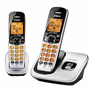 Desk Telephone,2 Handset,Silver