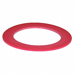 Rubber Flush Valve Seal, Red, For Use With Mansfield 210/211