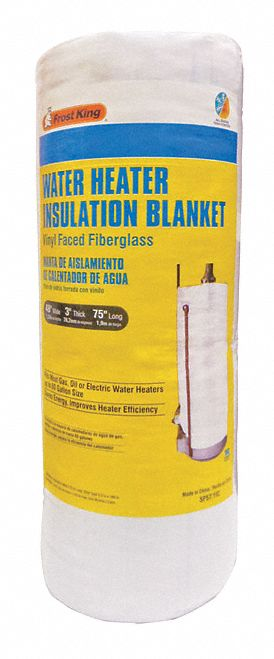 Fiberglass Water Heater Insulation Blanket, For Use With: Up to 60 gal Water Heaters