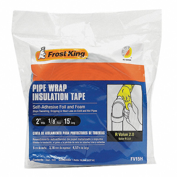 Frost King 1 8 Quot X 2 Quot X 15 Ft Foam And Foil Pipe