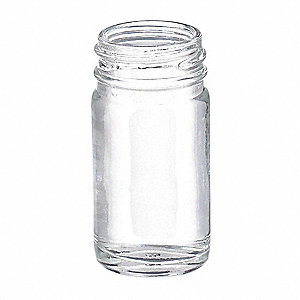 Wide Mouth Round Bottle, Glass, Clear, 432 PK