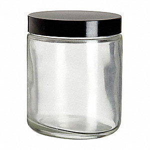 Wide Mouth Round Safety Coated Jar, Glass, Clear, 12 PK