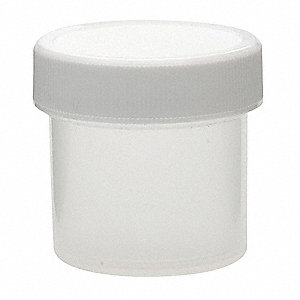 Wide Mouth Round Jar, Plastic, 30mL, White, 72 PK