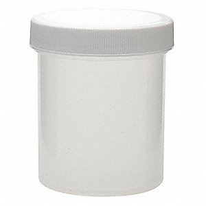 Wide Mouth Round Jar, Plastic, 125mL, White, 36 PK