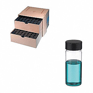 Type I Borosilicate Glass Sample Vial 72PK