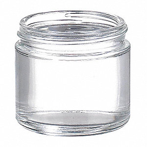 Wide Mouth Round Jar, Glass, Clear, 144 PK