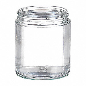 Wide Mouth Round Jar, Glass, Clear, 24 PK