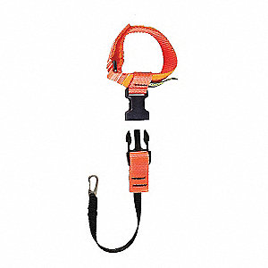 "Tool Lanyard, 10"" Length, Orange, 5 lb. Max. Working Load"