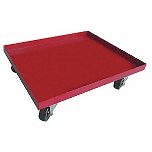 "36""L x 24""W x 5-1/2""H Red General Purpose Dolly, 1000 lb. Load Capacity"