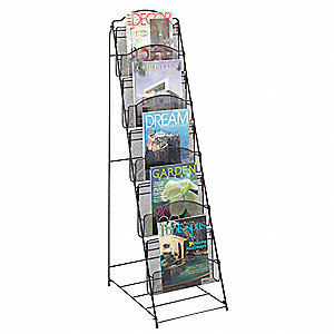Magazine Floor Rack,Black