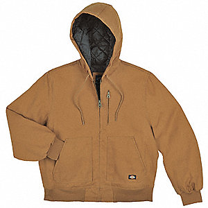 Hooded Jacket,Cotton,Brown Duck,LT