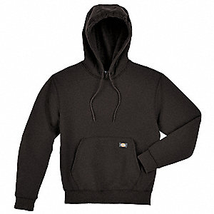 Hooded Sweatshirt,Pullover,Black,LT