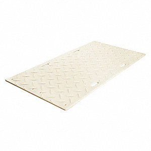 Ground Protection Mat, Medium Duty, 6 ft. L, 3 ft. W, Load Capacity: 240,000 lb., Clear