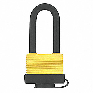 "Alike-Keyed Padlock, Open Shackle Type, 31/32"" Shackle Height, Silver"