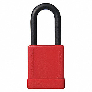"Lockout Padlock,KD,Red,3""H"