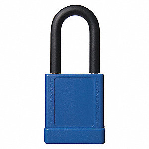 "Lockout Padlock,KD,Blue,2""H,PK6"