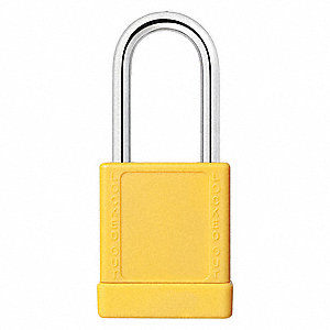 "Lockout Padlock,KD,Yellow,2""H"